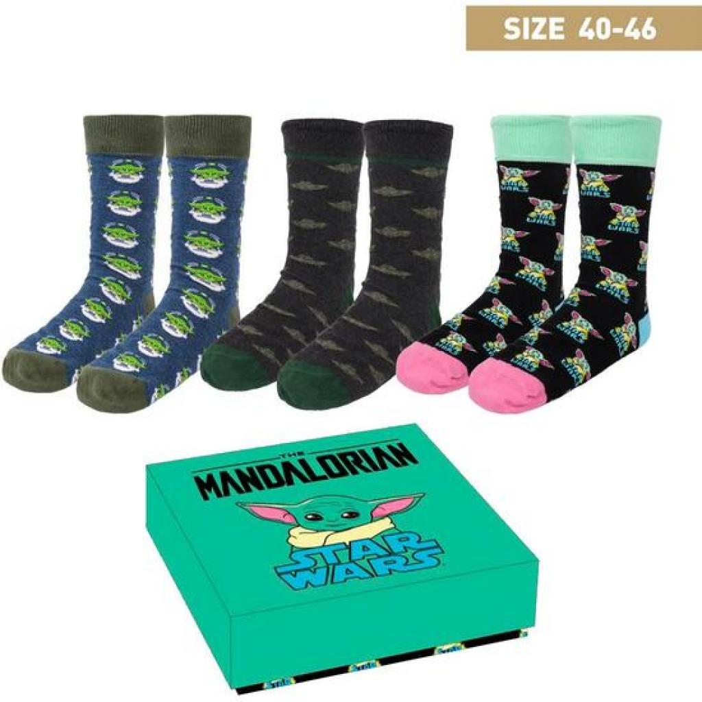 Pack calcetines 3 piezas the mandalorian the child multicolor - talla 40/46