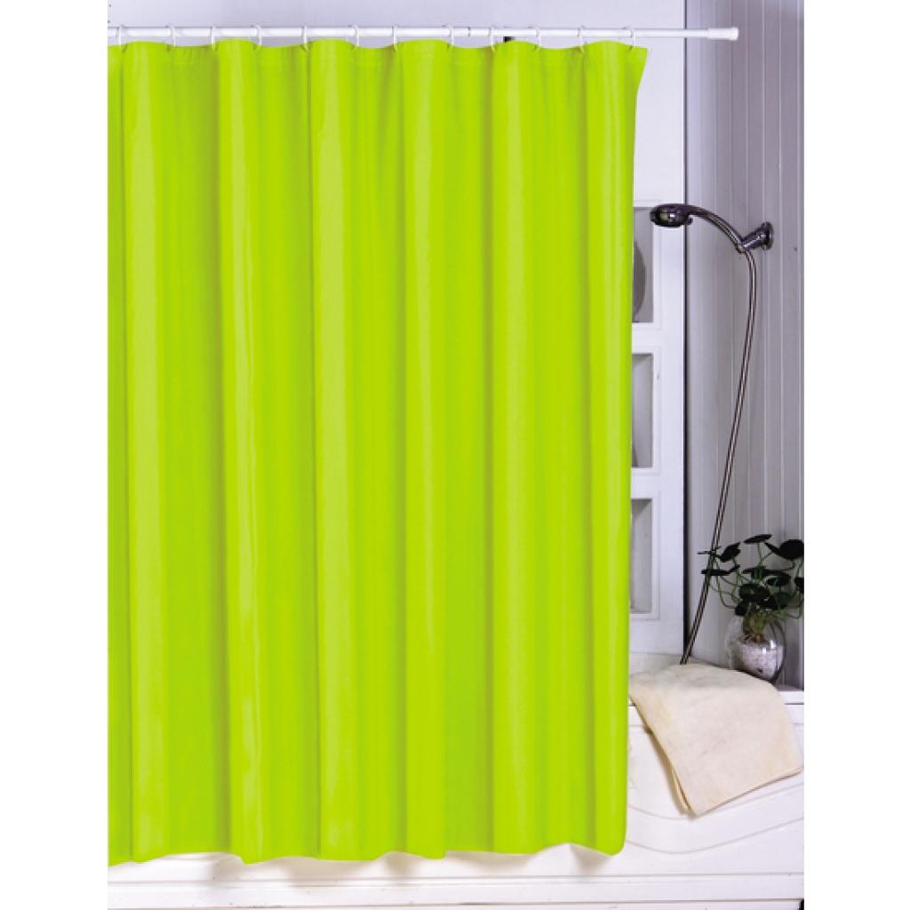 Cortina de baño de polyester de peva verde