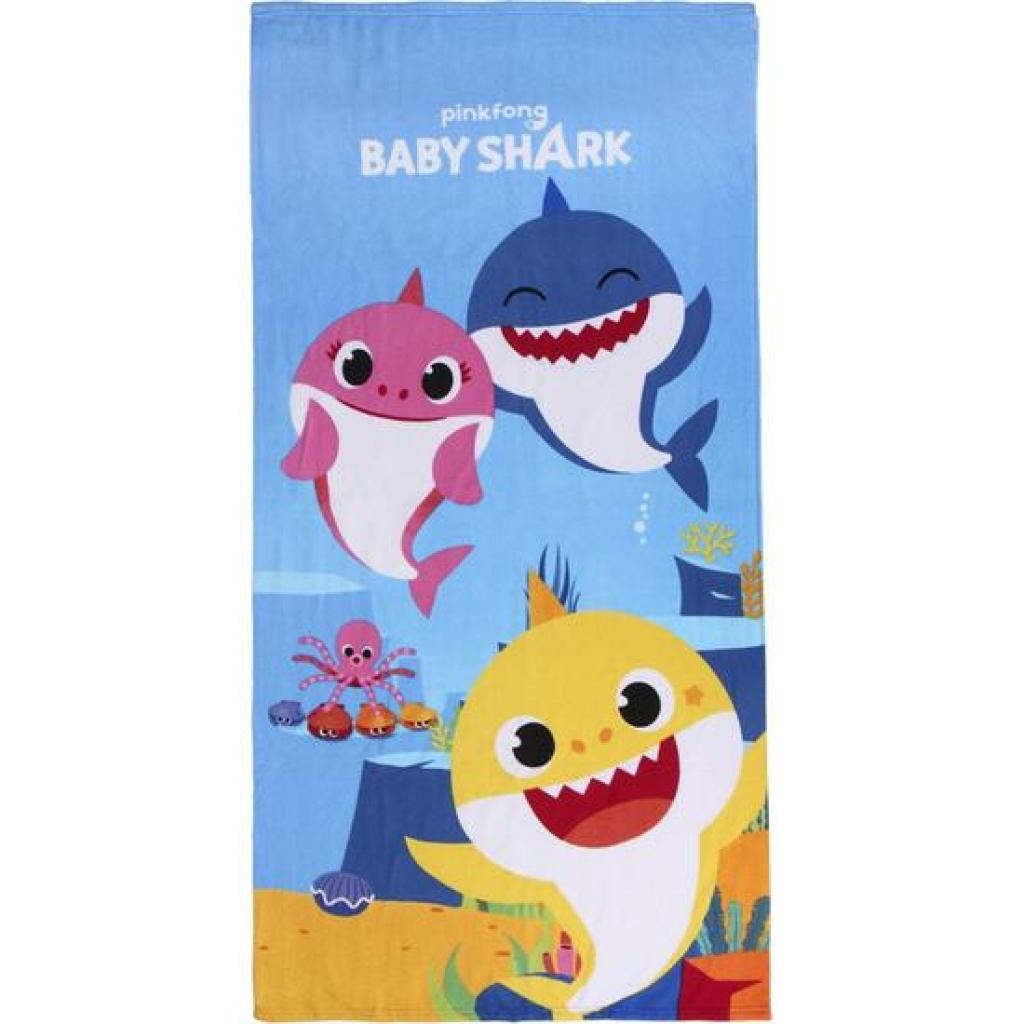 Toalla microfibra baby shark - azul - 70x140 centímetros
