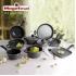 Bateria de cocina 12 piezas san ignacio cassel en acero inoxidable con juego de sartenes (18/20/24 centímetros) magefesa k2 gransasso en acero esmalta