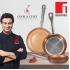 Bateria de cocina 12 piezas san ignacio cassel en acero inoxidable con juego de sartenes (18,20,22,24,26,28 centímetros) bergner professional chef cop