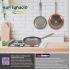 Bateria de cocina 12 piezas san ignacio cassel en acero inoxidable con juego de sartenes (18/22/26 centímetros) san ignacio optimum plus en aluminio p
