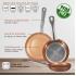 Bateria de cocina 12 piezas san ignacio cassel en acero inoxidable con juego de sartenes (20/24/28 centímetros) bergner professional chef copper plus